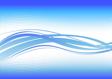 blue winter wave line Stock Vector - 3997081
