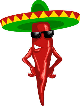 cartoon mexican chili