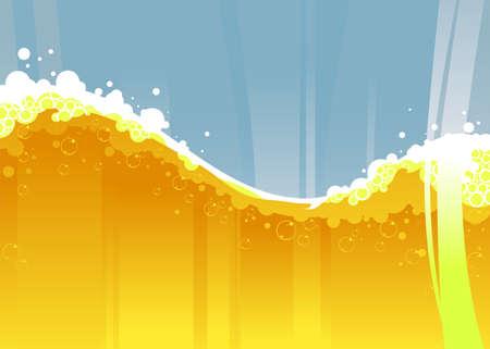 beer wave Illustration