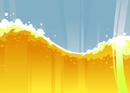 beer wave Illustration