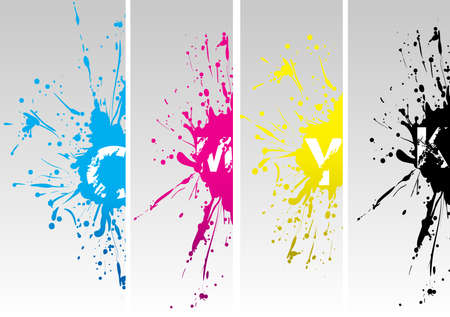 printing out: cmyk new splat Illustration