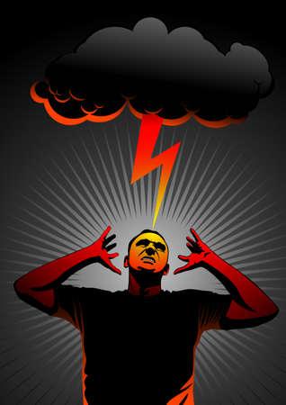 grimace: thunder in head Illustration