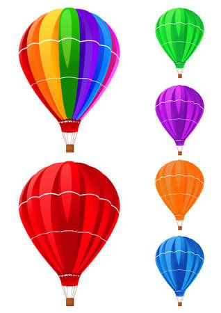 inflar: globos de recogida de Vectores