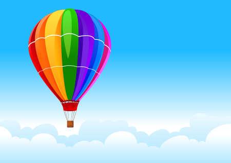 inflar: cielo en globo Vectores