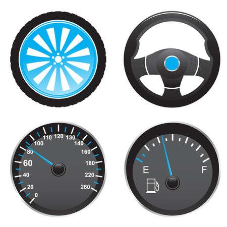 auto icons Stock Vector - 5196501