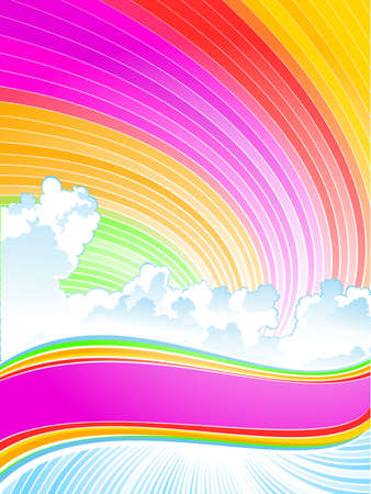 Color sky and cloud Stock Vector - 5196500
