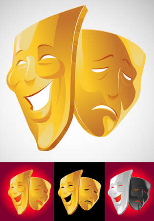 comedy and tragedy masks: Theater masks
