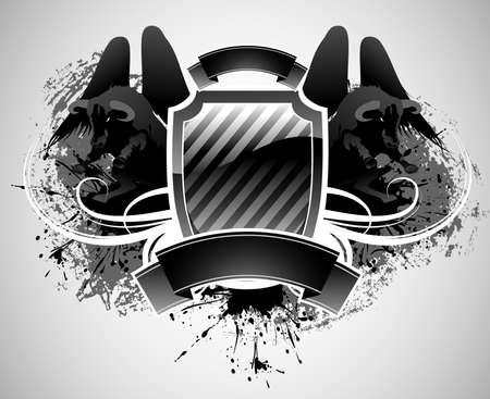 shield and bull Stock Vector - 5844754