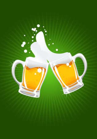 two beer mugs Illustration