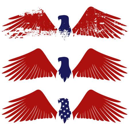 grunge wings: Simbolo di American eagle