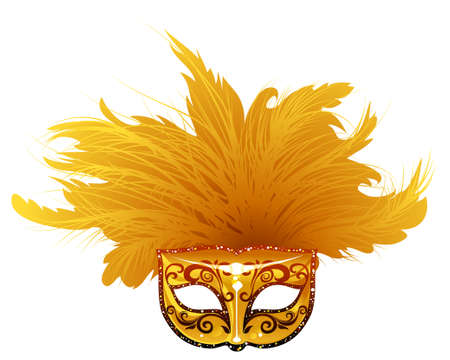 illustration of venetian mask. Can be scale to any size.