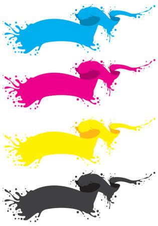 four liquid banner in cmyk colors Stock Vector - 6940434