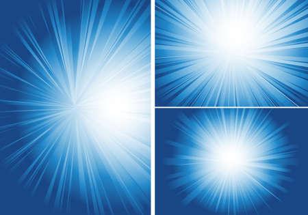 shining light: tres fondo con resplandor de luz
