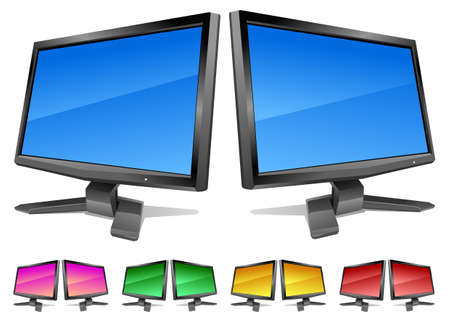 Modern led-monitors with clear color screens. Vector   can be scale to any size and easy to edit. Stock Vector - 8228107