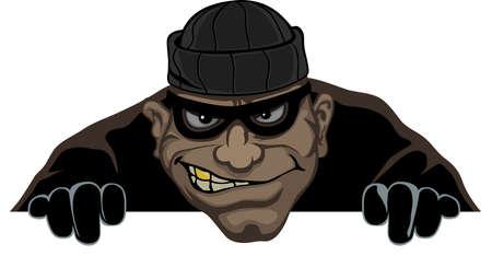 ladron: Un ladr�n lleva una m�scara se prepara para robar la noche