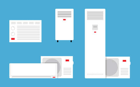 conditioner: Vector illustration of the airconditioners in flat style