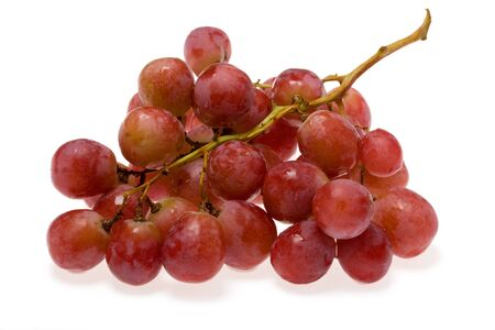 bunch of grapes isolated on a white background Stock Photo