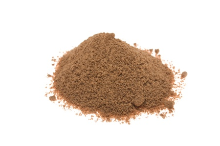 cacao powder isolated on white Stock Photo - 10471077