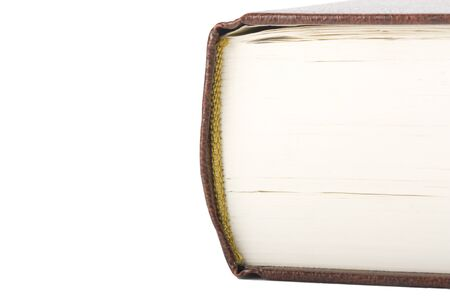 Book close-up isolated on white Stock Photo