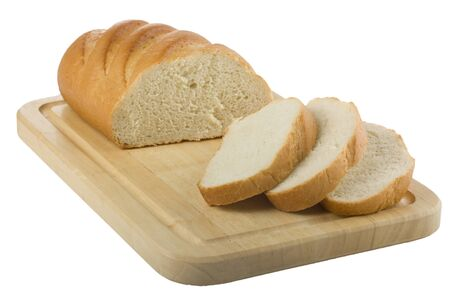 sliced loaf of bread on the cutting board Stock Photo - 10503543