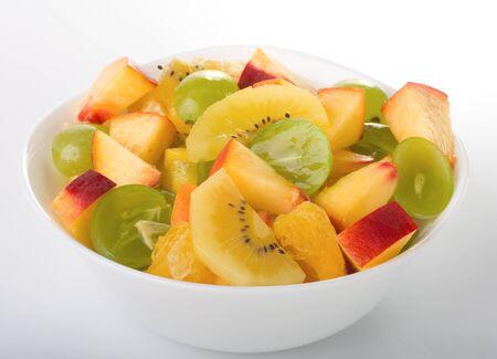 fresh fruit salad in a bowl