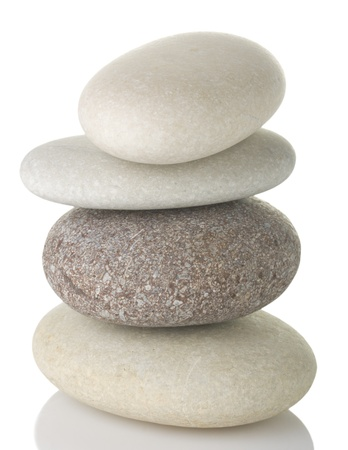 pebblestone: Pile of pebble stone, isolated on white background