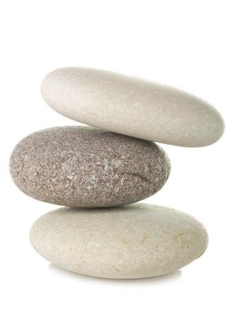 Pile of pebble stone, isolated on white background