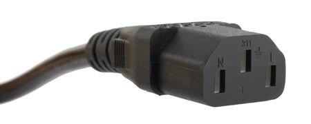 Power socket isolated on white background photo