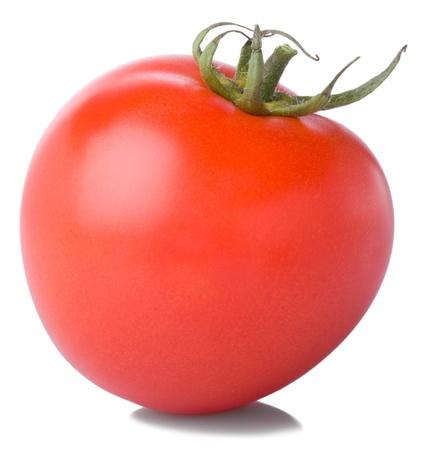 fresh ripe tomato  isolated on white background Stock Photo