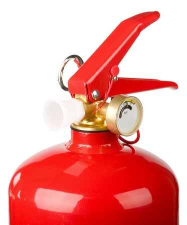 extinguishers:  fire extinguishers head isolated on white background