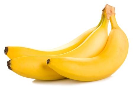 bunch of ripe bananas isolated white background photo