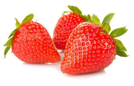 fresh strawberries isolated white background Stock Photo