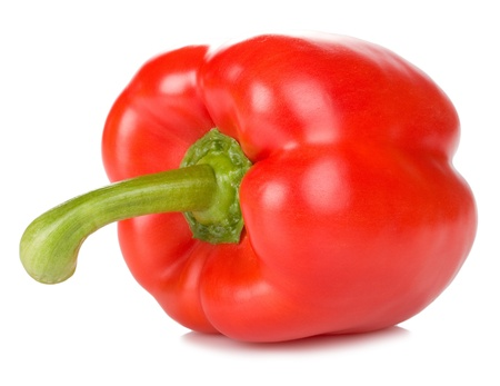 bell red pepper isolated on white background Stock Photo