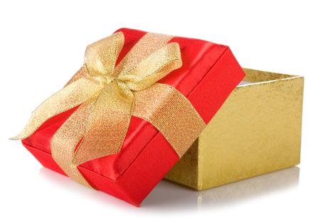 open gift box isolated on white background Stock Photo