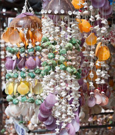 decoration made from shells hanging for sell