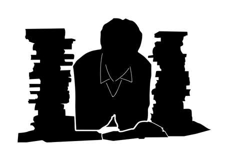 literary man: Book Reader icon isolated on white Illustration
