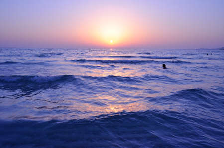 persian gulf: Deep Sunset at Persian Gulf in Dubai, UAE