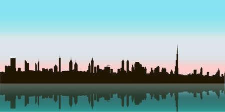 Dubai Vector Skyline Ilustrace