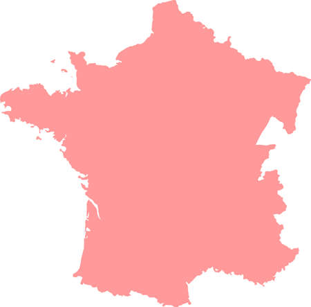 Map of France in vector. Vector