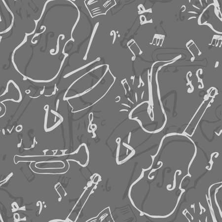 rhythmical: Seamless Jazz music pattern