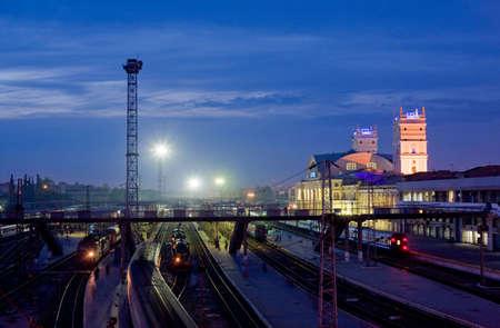 kharkov: Railroad evening Stock Photo