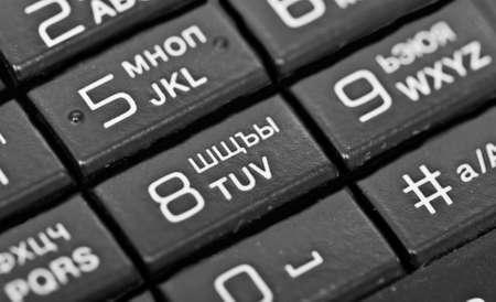 Mobile phone keypad photo