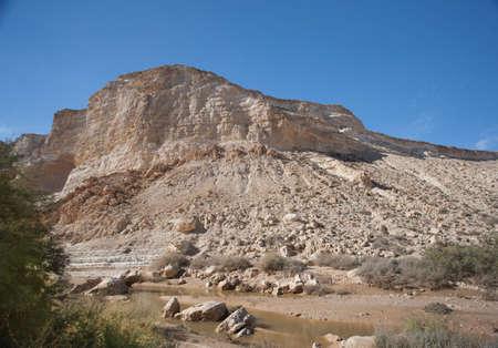 negev: Blue sky and mountains of Israeli Negev desert