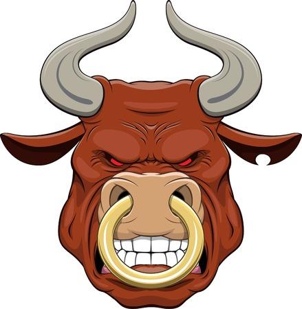 nose cartoon: bulls head