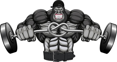 bodybuilder man: illustration, of the strong garilly Illustration