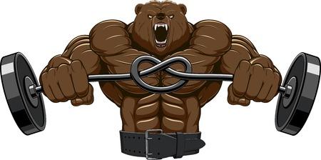 Illustration, angry bear head mascot  イラスト・ベクター素材
