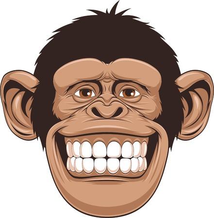 gorila: ilustración de monos alegres Vectores