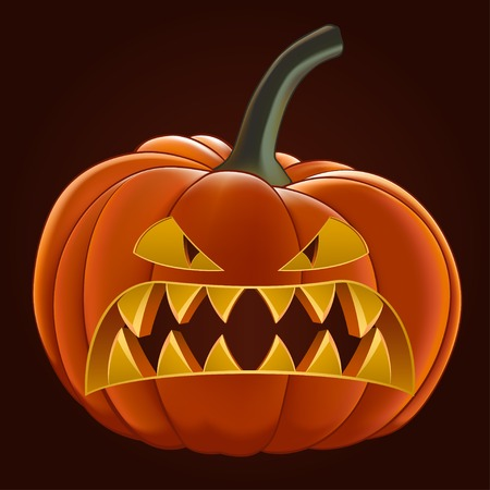 gourd: Pumpkin for Halloween, vector illustration