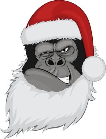 bearded gorilla Vector