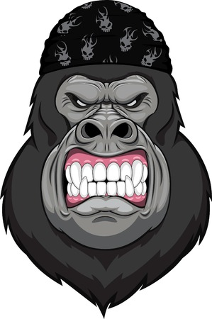 gorilla: monkey head mascot